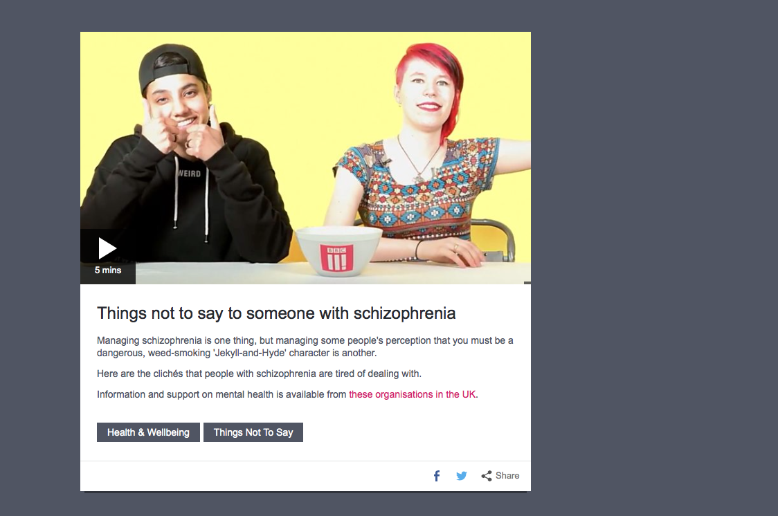 Things Not To Say To Someone With Schizophrenia The Psychologist