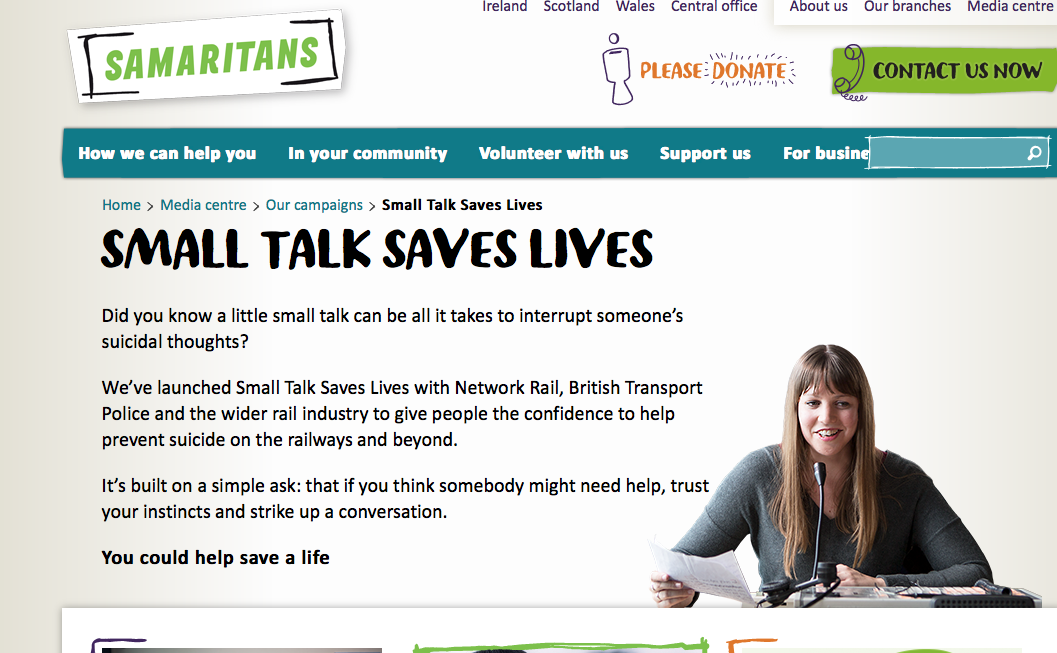 Small talk saves lives | The Psychologist
